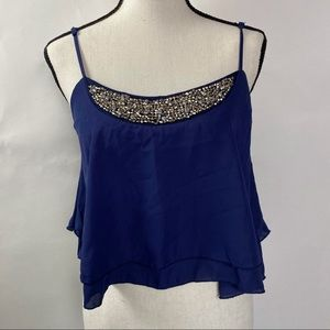 Love Culture Navy Blue tops size S